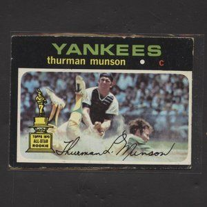1971 TOPPS #5 THURMAN MUNSON YANKEES